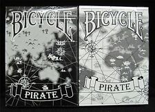 2 Decks Bicycle PIRATE black and white deck Playing Cards