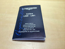 Booklet LONGINES Calibre L599 - L601 Instructions for use - All languages