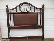 Bamboo Modern Queen Size Headboard TALL Coastal Cottage Tropical Rattan Wicker