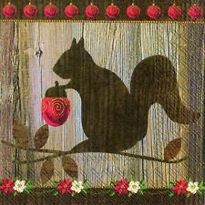 Christmas Squirrel Christmas luxury paper napkins traditional english 20 in pack