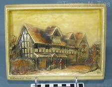 Antique Shakespeare's Home Osborne Ivorex Wall Plaque England (FF)