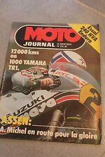 MOTO JOURNAL N°515 ★★ YAMAHA 1000 TR1 ★★ HUSQVARNA 240 WR, MOBCROSS, ASSEN 1981
