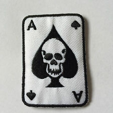 Embroidered Ace of Spades Cards Iron on Sew on Patch Badge