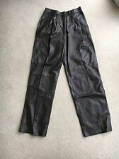 Authentic Vintage Gucci Dark Brown Leather Trousers Italian Size 42