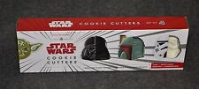 STAR WARS Cookie Cutters Yoda Vader Boba Fett Stormtrooper WILLIAMS SONOMA