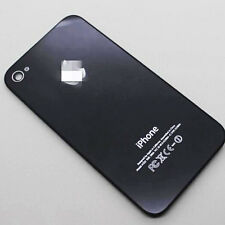 Genuine Glass Battery Back Cover Door Replacement For iPhone 4 4G A1332 Black