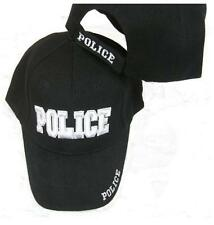 POLICE EMBROIDERED ADJUSTABLE HAT black baseball ball officer law cop cap A24