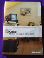 MICROSOFT OFFICE 2003 STUDENT & TEACHER WITH WORD EXCEL GENUINE WITH PRODUCT KEY