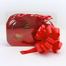 Florists Pull Ribbon Bows by Oasis 3cm makes 12cm bow Box of 30 Bright Red