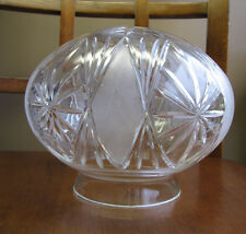 "Replacement Mushroom Lamp Shade Globe  Cut Glass Crystal 4"" Fitter Diamond File"