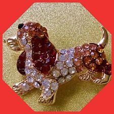 Dachshund Fashion Jewelry Swarovski Elements pin brooch #dachshund Такса Doxi US