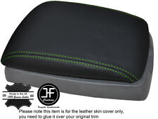 GREEN STITCHING ARMREST LID LEATHER COVER FITS KIA SORENTO 2002-2006