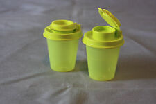 Tupperware small mini salt and pepper shakers 2 oz midget travel camping Ne