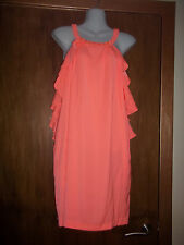 womans peach beaded neck dress from h&m size 10 new with tags RRP £20