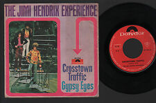 "7"" JIMI HENDRIX CROSSTOWN TRAFFIC / GYPSY EYES MADE IN ITALY 1969 POLYDOR MONO"