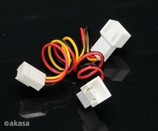 Akasa 3-pin Female to 2 x 3-pin Male Fan Splitter Cable
