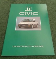 1986 HONDA Civic SHUTTLE 2WD & 4WD - UK 16pg BROCHURE