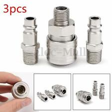 3x 1/4''BSP Air Line Hose Compressor Fitting Connector Male Thread Quick Coupler