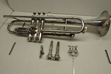 King H.N. White Company Silver Flair Trumpet Cleveland w/ Accessories and Case!