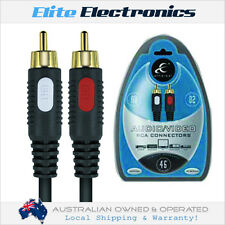 ETHEREAL EHT704 4M PAIR AUDIO VIDEO RCA INTERCONNECT CABLE STEREO LEAD HOME CAR