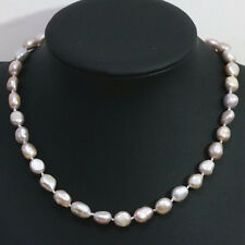 Fashion natural purple freshwater pearl necklace 9-11mm irregular jewelry