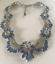 CHRISTIAN DIOR 1959 AB CRYSTAL NECKLACE RUNWAY EXCELLENT CONDITION W/ BOX