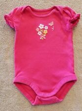 ADORABLE! GYMBOREE 3-6 MONTH PINK BUTTERFLY BODYSUIT