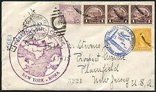1933 BALBO AIR SQUADRON RETURN FLIGHT COVER -- RARE -- WLM2354