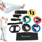 15 PCS Gym Exercise Resistance Bands Set Yoga Fitness Workout Stretch Heavy Duty