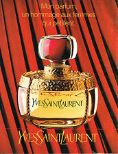 PUBLICITE ADVERTISING 035 1994 YVES SAINT LAURENT parfum femme120315