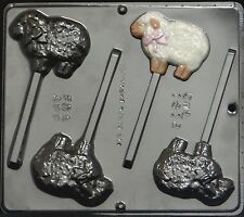 Lamb with Bow Lollipop Chocolate Candy Mold Easter  1812 NEW