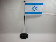 "Israel 4""x6"" Hand Held  or Table Top Flags International Country Flag"