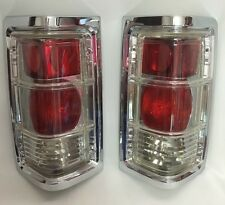 81-93 DODGE RAM PU TAILLIGHTS SET OF 2 CLEAR WITH CHROME TRIM 81/93 RAM CHARGER