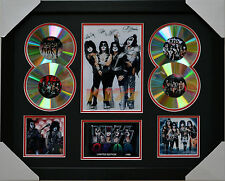 KISS MEMORABILIA FRAMED SIGNED LIMITED EDITION 4CD