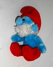"Vintage 1983 Peyo - PAPA SMURF - 12"" Plush Toy by Applause Toys (MT6)"
