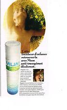 PUBLICITE ADVERTISING 064  1971  MUM   déodorant anti-transpirant