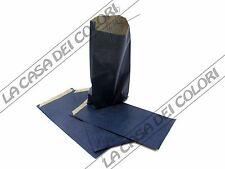 BUSTE IN CARTA - COLORE BLU - 8x15+3,5cm - 10 PEZZI