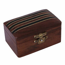 Handmade Beautiful Carved Wooden Jewellery Box Storage