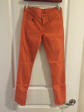 7 For All Mankind Gwenevere Orange Jeans - Size 26