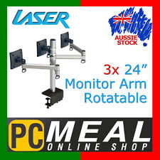 "LASER 3x Monitor Arm Multiple Screen Rotatable 24"" TV Mounts Bracket LCD Stand"