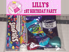 12 Personalised Birthday Party Loot Lolly Bags with Peppa Pig Princess Print