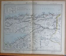 1883  LARGE ANTIQUE MAP ALGERIA ALGIERS BONAH ORAN CONSTANTINE