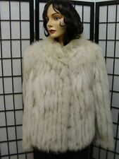 ! MINT PLAIN NORWEGIAN (BLUE) FOX FUR JACKET COAT WOMEN WOMAN SIZE 4-6