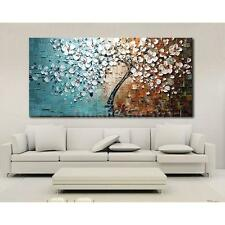 Hand-painted Oil Painting Set Flower Tree Canvas Print Bedroom Art Picture NA3D