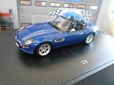 BMW Z8 V8 5.0 E52 Roadster Cabriolet 2000–2003 blau blue Minichamps RAR 1:43