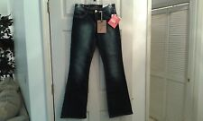 NWT Southpole Salsa Mid Rise Dark Bootcut Jeans Juniors Size 5     (T017K)
