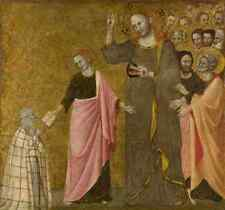 Master Of The Blessed Clare Vision Of The Blessed Clare Of Rimini A3 Box Canvas