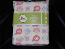CIRCO LOVE N AND NATURE BABY TODDLER FITTED CRIB SHEET OWL FLOWER BIRD PURPLE