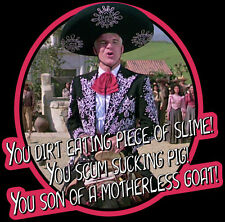 """80's Comedy Classic Three Amigos """"Son of a Motherless Goat"""" custom tee Any Size"""
