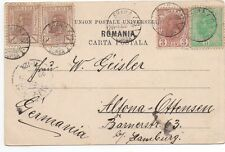 1905 Romania Postcard with 3 Color Franking to Germany